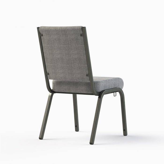 """661-18"""" Shown in AW 19 Charcoal Fabric & Silvervein Frame (Back View)"""