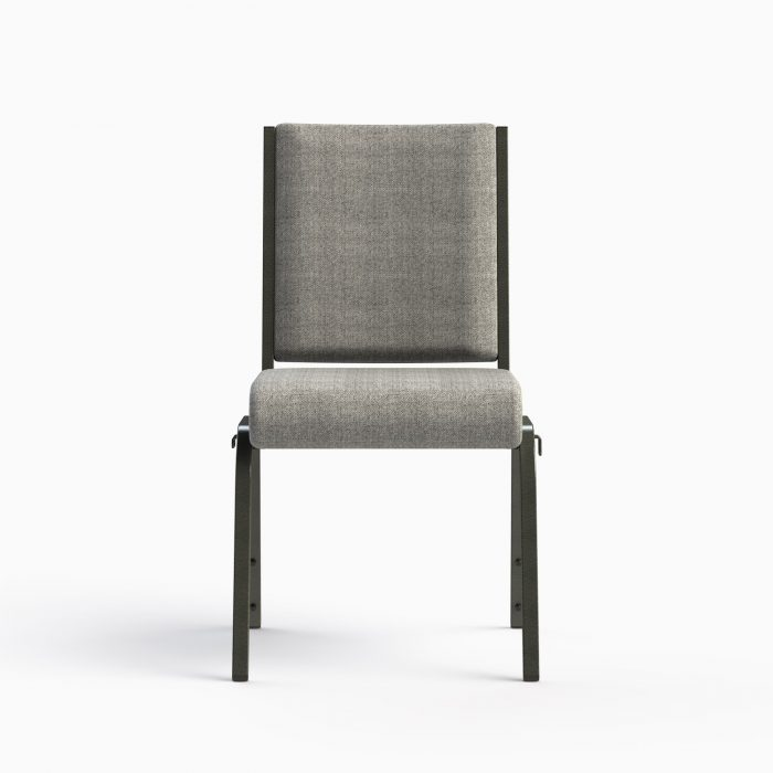 """661-18"""" Shown in AW 19 Charcoal Fabric & Silvervein Frame"""