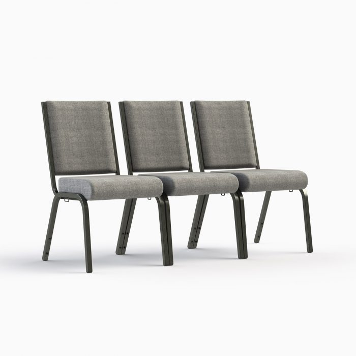"""661-18"""" Shown in AW 19 Charcoal Fabric & Silvervein Frame (Interlocked)"""