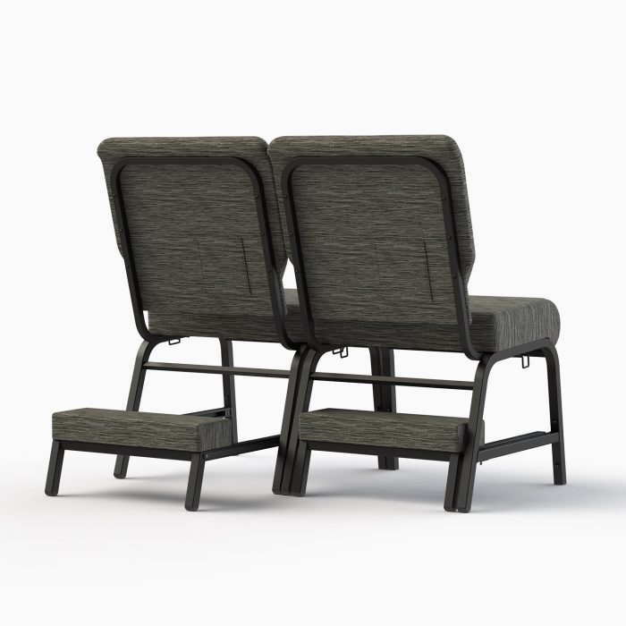 7701-X Shown in CULP Winslow - Mineral Fabric & Textured Black Frame