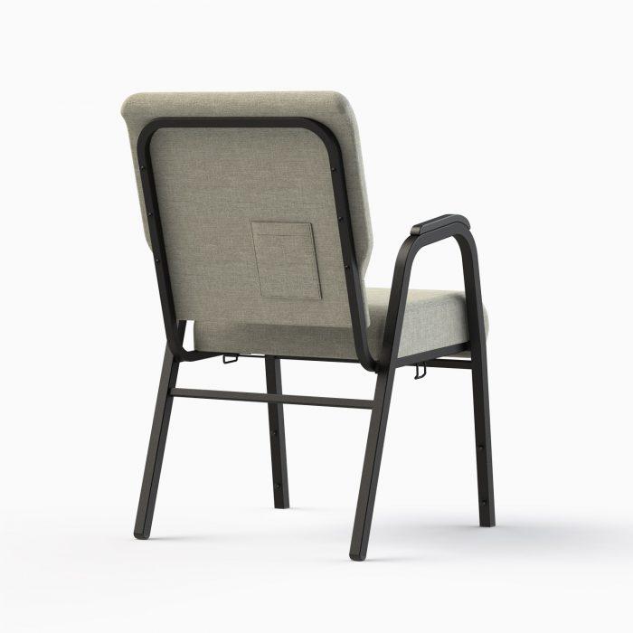 7741-HZ Shown in CULP Archetype - Quartz Fabric & Textured Black Frame