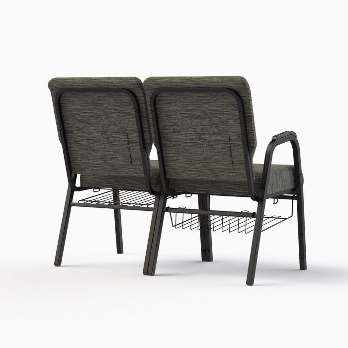 7741-X Shown in CULP Winslow - Mineral Fabric & Textured Black Frame (w/ Bookracks)