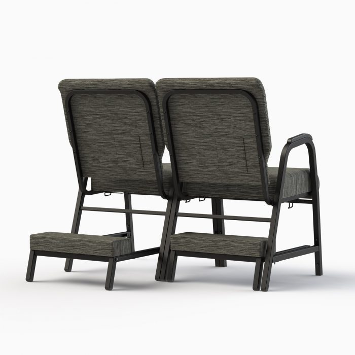 7741-X Shown in CULP Winslow - Mineral Fabric & Textured Black Frame (w/ Kneelers)