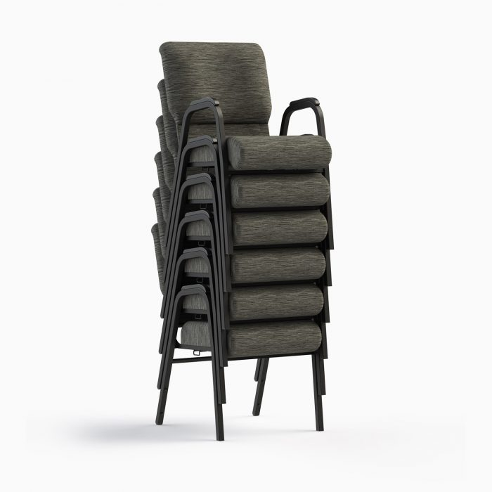 7741-X Shown in CULP Winslow - Mineral Fabric & Textured Black Frame (Stacked)
