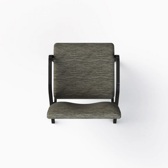 7741-X Shown in CULP Winslow - Mineral Fabric & Textured Black Frame (Top View)