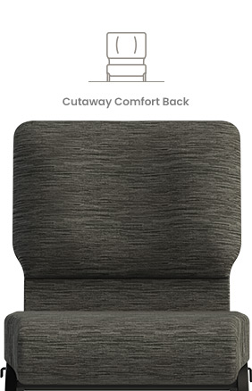 Cutaway Comfort Back Church Chair