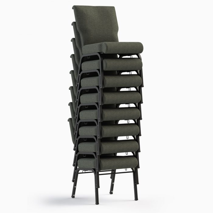The Jubilee II Shown in Ash Fabric & Textured Black Frame (Stacked)